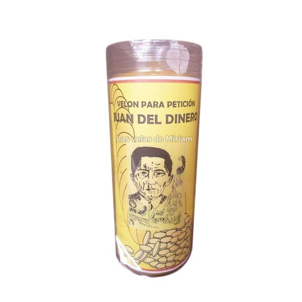 Velón de oración con aceite Don Juan del dinero