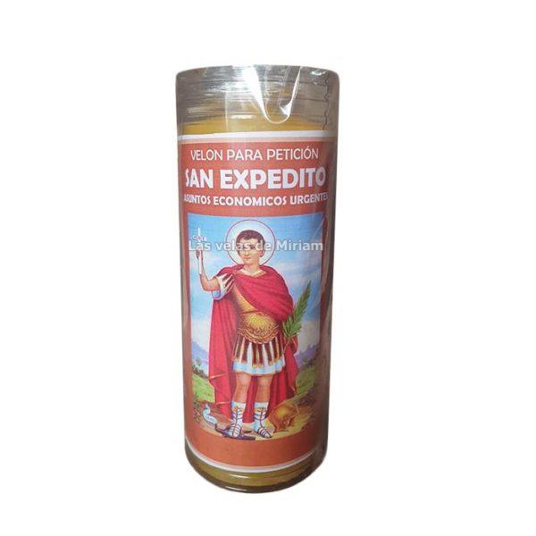Velón de oración con aceite San Expedito