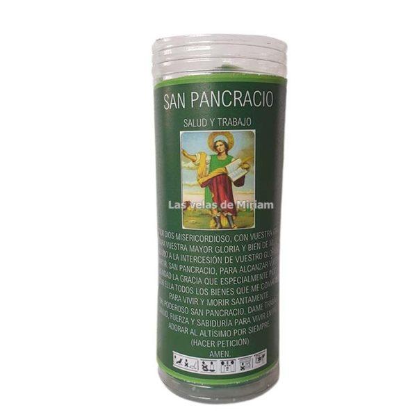 Velón de oración con aceite San Pancracio