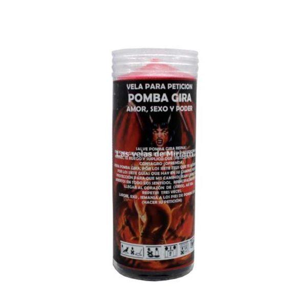 Velón de oración con aceite Pomba Gira