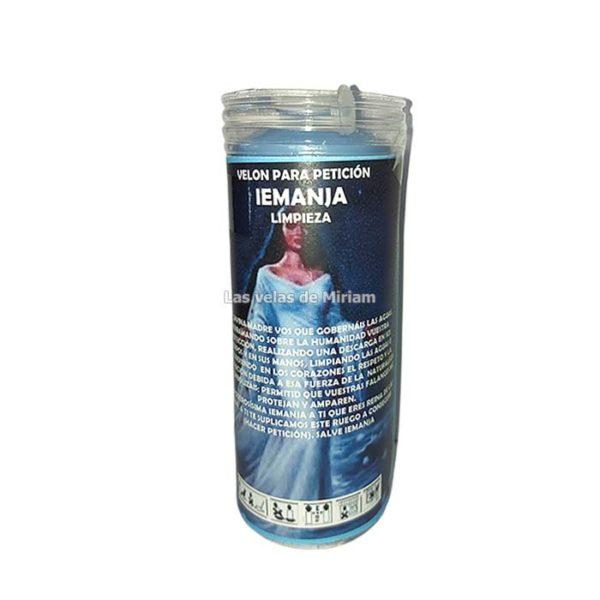 Velón de oración con aceite Yemanja