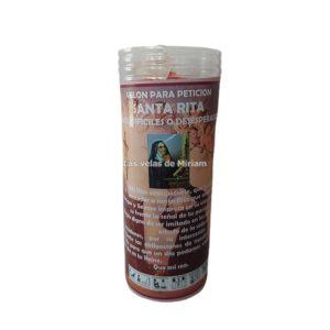 Velón de oración con aceite Santa Rita