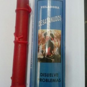 Veladora Virgen Desatanudos Roja