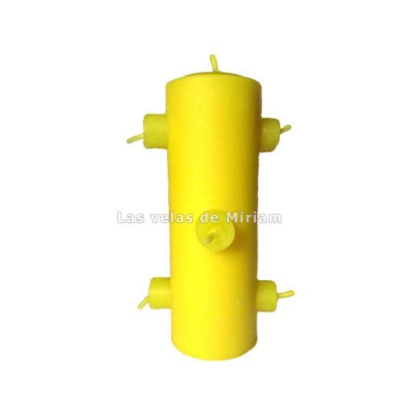 Velón 7 mechas amarillo