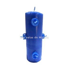 Velón 7 mechas azul