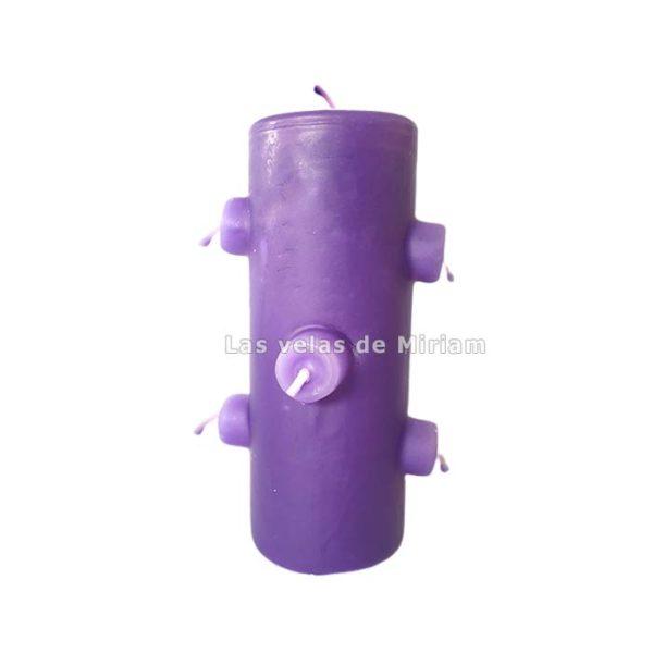 Velón 7 mechas lila
