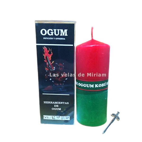 Velón preparado Ogum