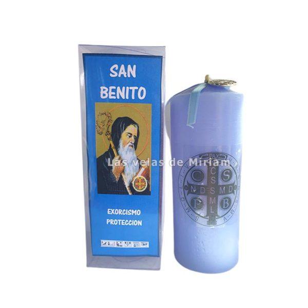 Velón preparado san Benito azul