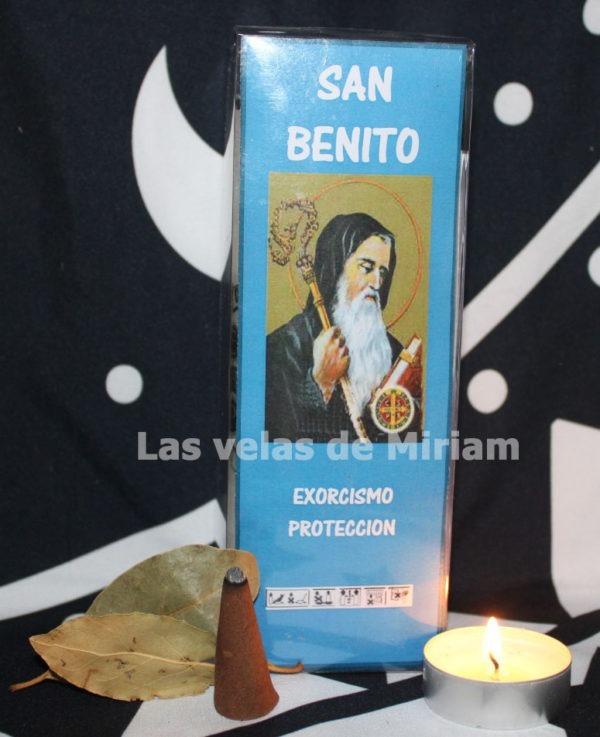 Velón preparado San Benito Color Azul