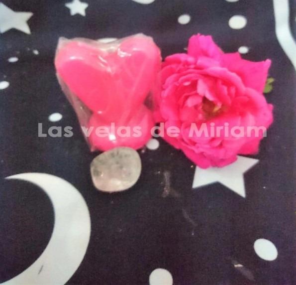 Figura De Cera Corazón Rosa