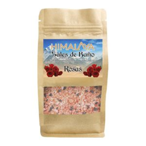 Sal Himalaya para baño con Rosas