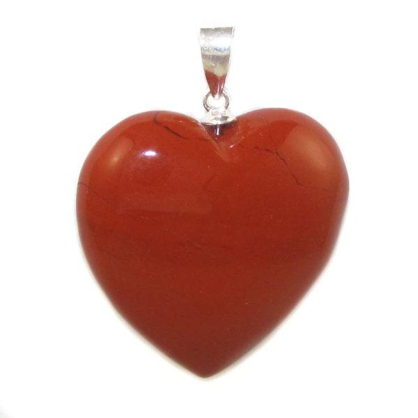 Colgante corazón Jade rojo