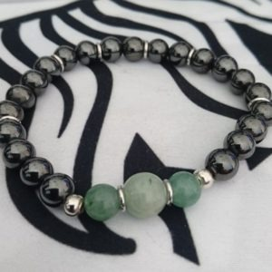 Pulsera jade y plata