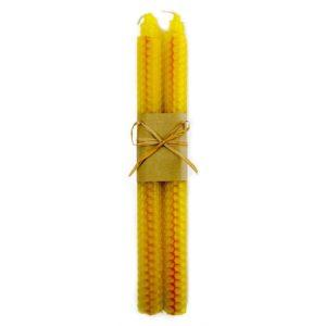 Velas de cera de abeja color amarillo