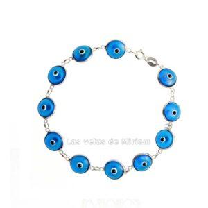 Pulsera ojo turco azul celeste