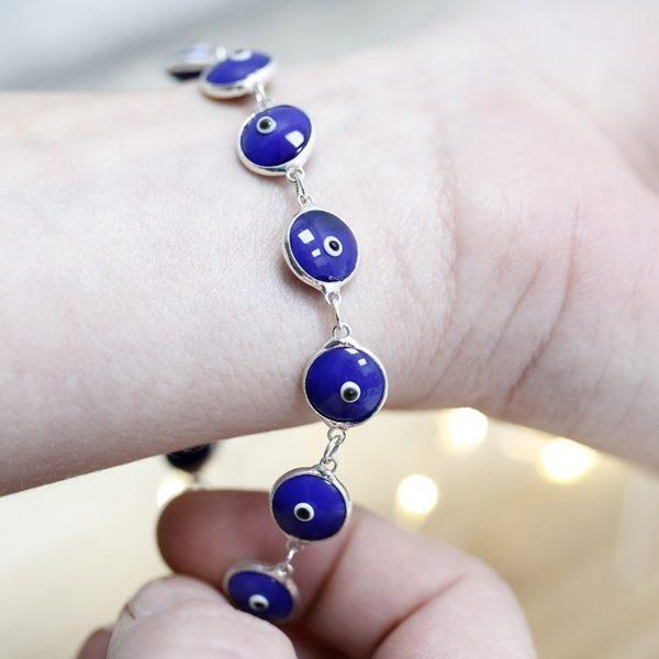 pulsera ojo turco azul