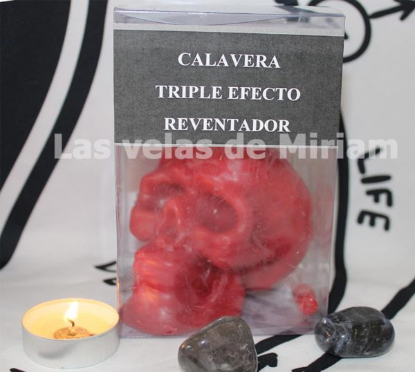 Ritual Calavera Roja Triple Efecto Reventador