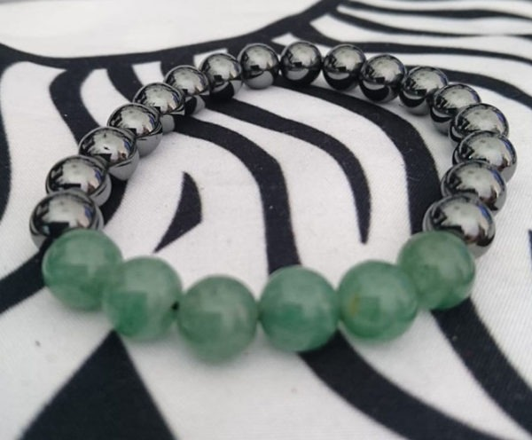 Jade vietnamita y hematites