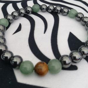 Hematites, jade verde y ojo de tigre
