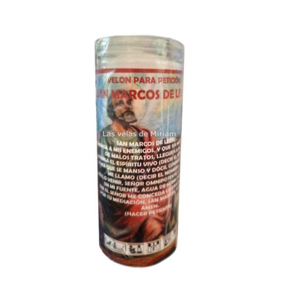 Velón de oración con aceite San Marcos de León