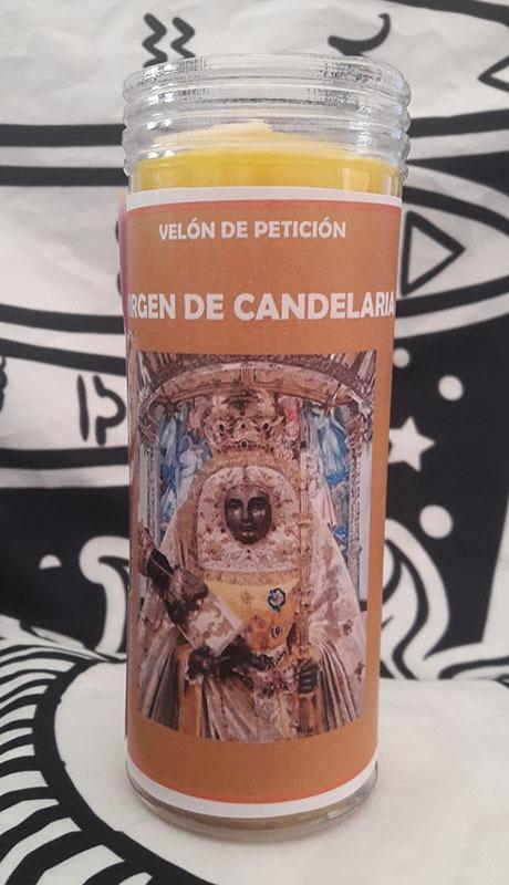 Velón de oración Virgen de la Candelaria