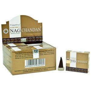 Incienso en conos Golden Nag Champa Vijayshree