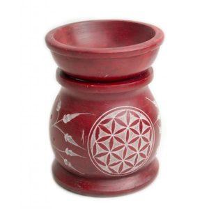 Quemador aroma piedra rojo