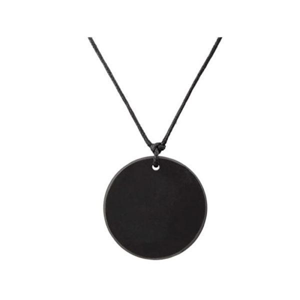 Shungite - Collar con colgante círculo