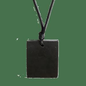 Shungite - Collar con colgante cuadrado