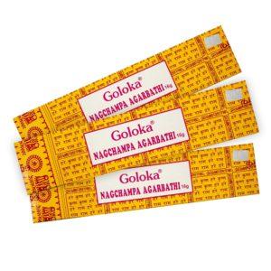 Incienso Goloka nag champa amarillo