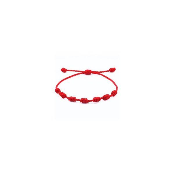 Pulsera Roja Artesanal 7 Nudos