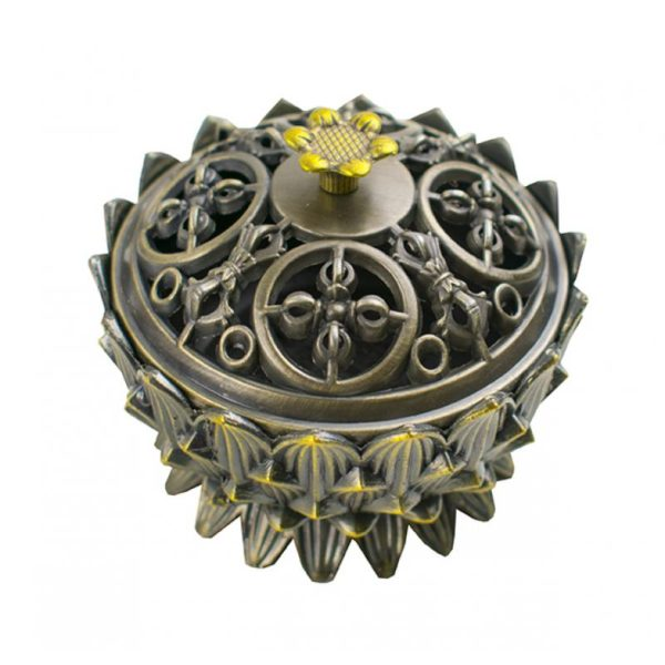 Quemador flor de loto de metal