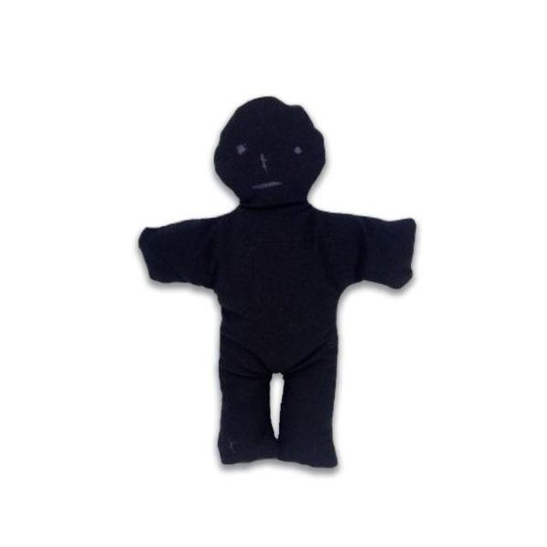 Muñeco vudú de tela negro