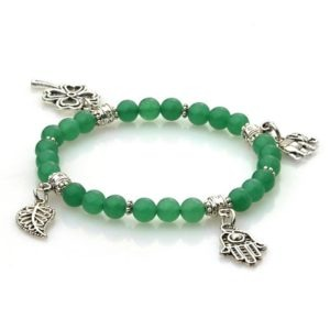 Pulsera de la suerte jade verde