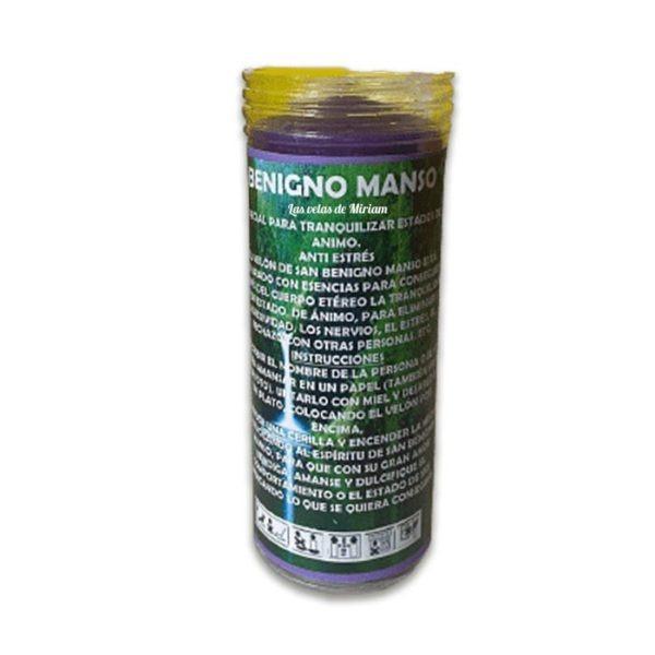 Velón de oración con aceite Benigno Manso