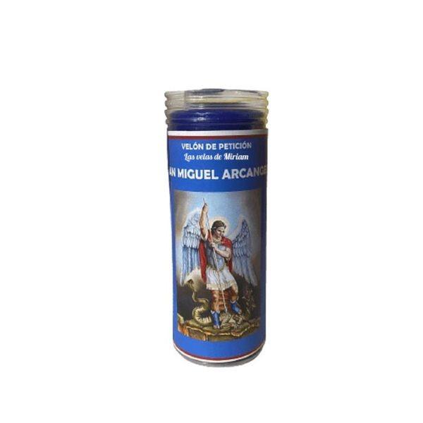 Velón de oración con aceite arcángel Miguel