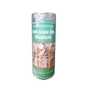 Velón de oración con aceite Don Juan del trabajo