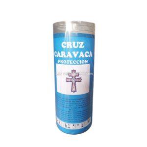 Velón de oración con aceite Cruz de Caravaca