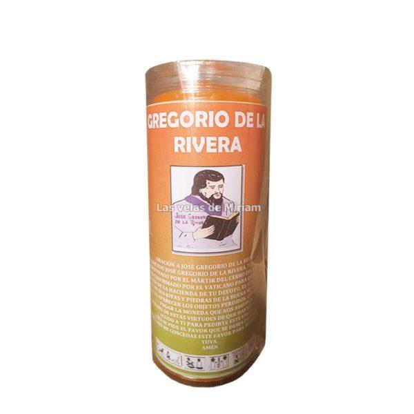 Velón de oración con aceite Gregorio de la Rivera