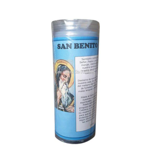 Velón de oración con aceite San Benito