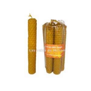 Paquete vela de cera virgen pequeña (7 unidades)