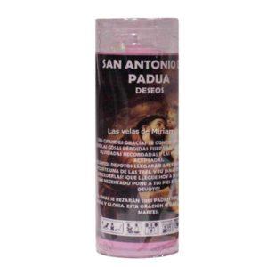 Velón de oración con aceite San Antonio de Padua