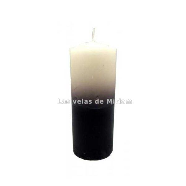 Velón bicolor blanco negro