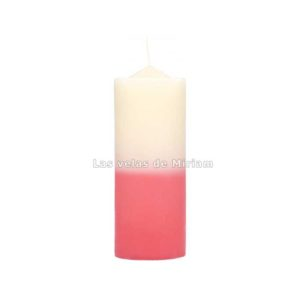 Velón bicolor blanco rosa