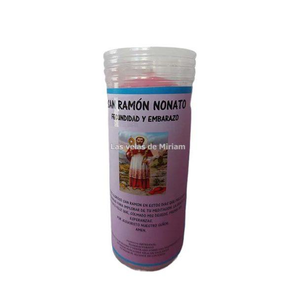 Velón de oración con aceite San Ramón Nonato