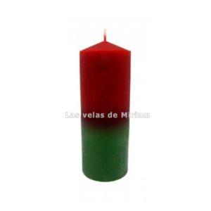Velón bicolor rojo verde
