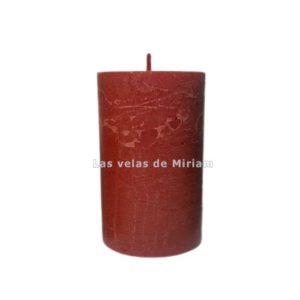 Velón rustico rojo