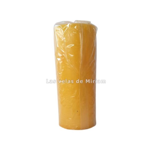 Velón esotérico de cera natural amarillo