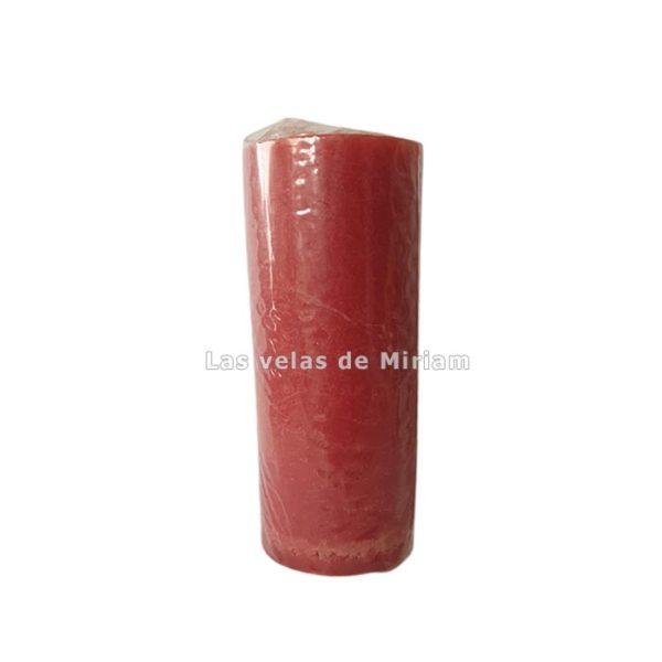 Velón esotérico de cera natural rojo