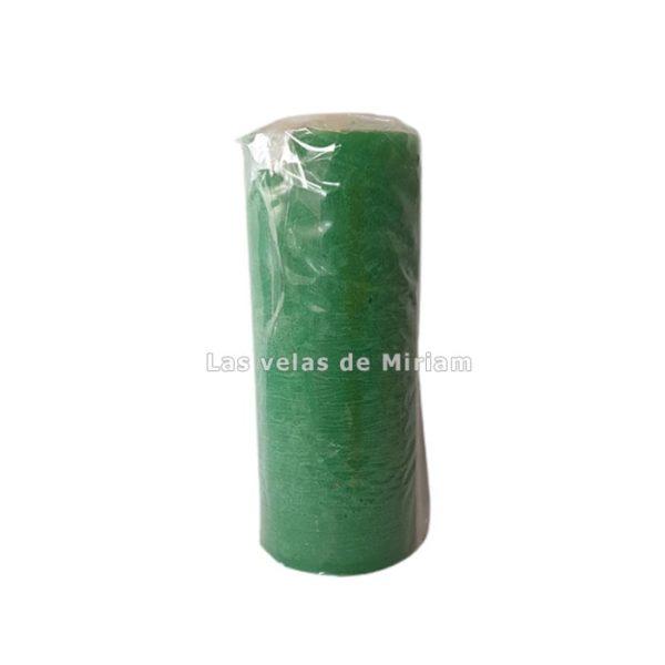 Velón esotérico de cera natural verde